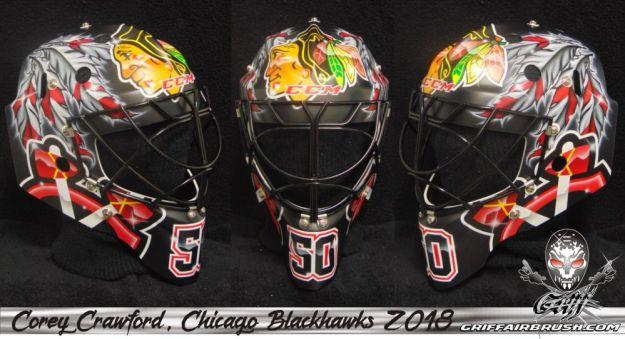 The Rink Blackhawks Goalies Masks For 18 19 Part 1
