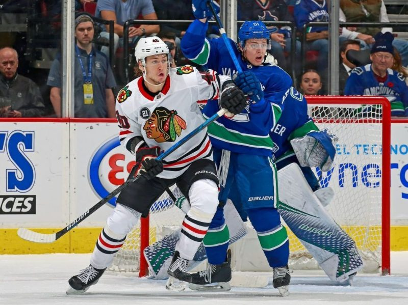 The Rink HawksVSCanucks_10-18-e1541073445581 RECAP: Blackhawks Fall To Canucks 4-2 Vancouver Canucks Chicago Blackhawks Canucks Blackhawks