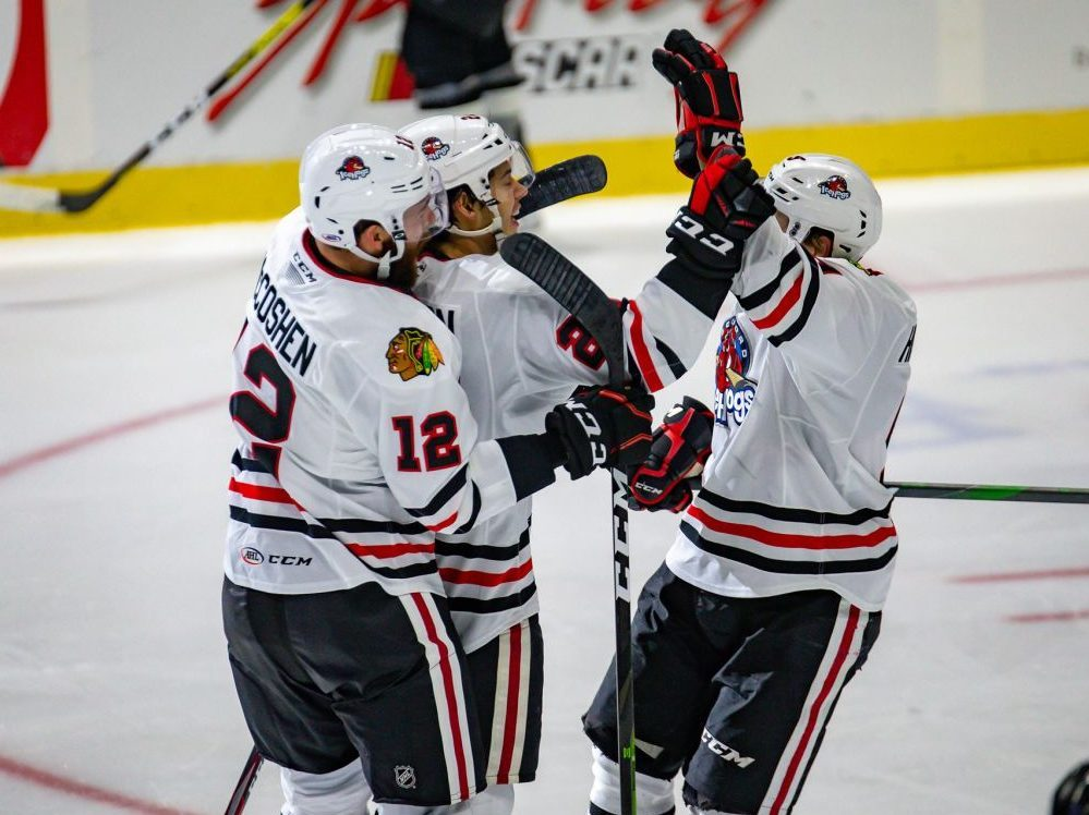 Rockford IceHogs top San Antonio Rampage on a night of firsts