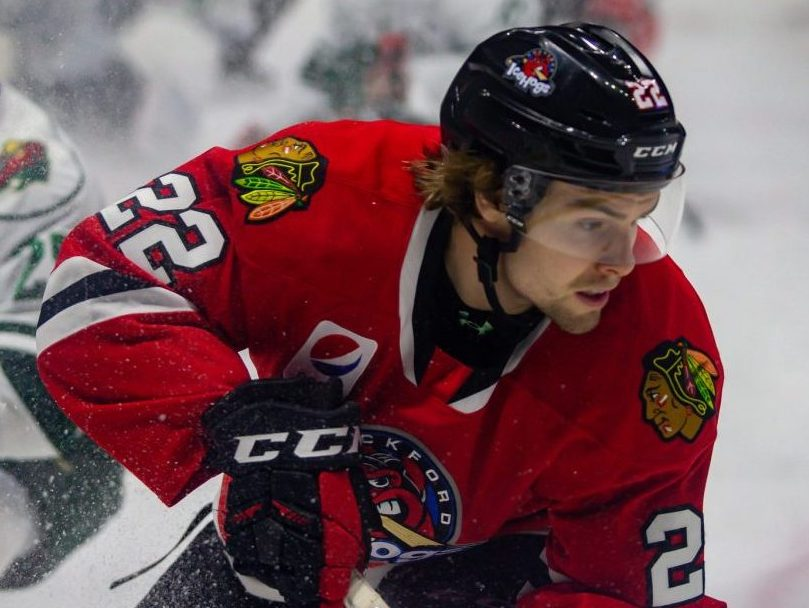 Brandon Hagel on historic rookie pace for IceHogs