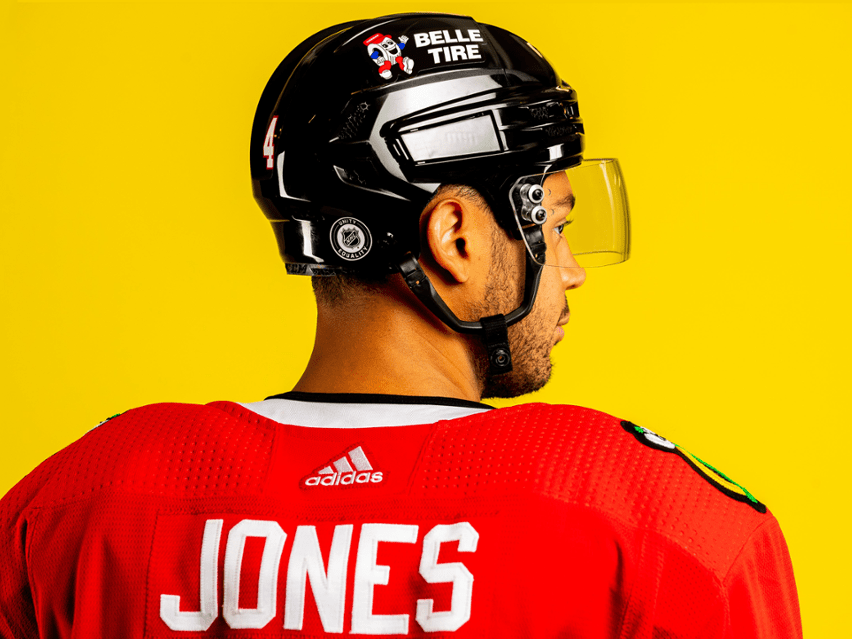 Blackhawks announce helmet sponsor, 100% player vaccination rate