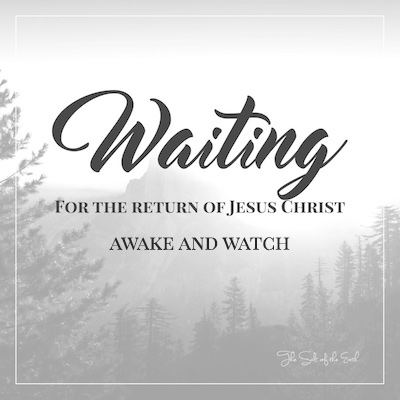 return of Jesus awake and watch