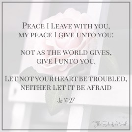 Jesus will give you peace of mind