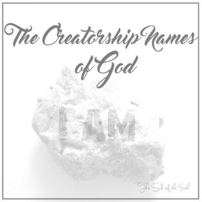 Creatorship Names of God