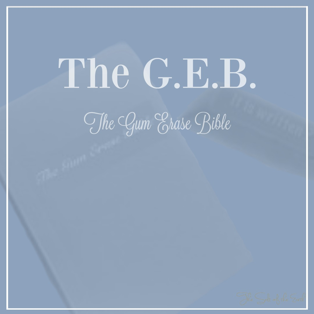 A new Bible: The GEB