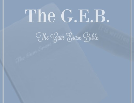 new Bible the gum erase Bible