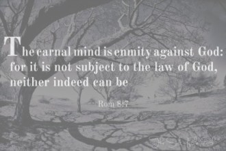 Thou shall, the carnal mind is enmity against God, sin in the church