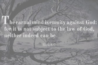 Thou shall, the carnal mind is enmity against God
