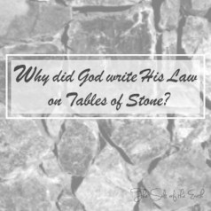 God wrote His law on tables of stone heart of flesh