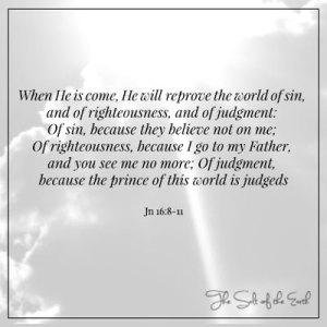 Holy Spirit reproves the world