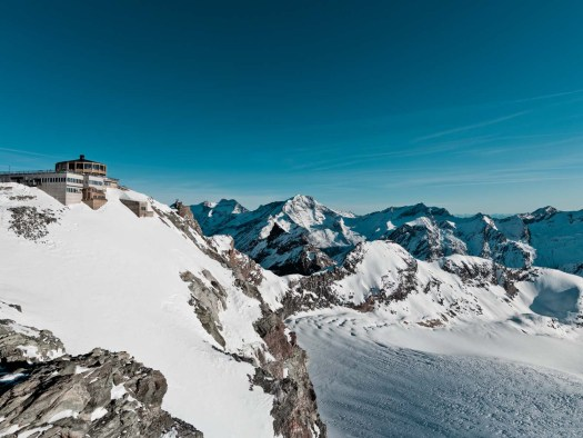 The views from the peaks of Saas-Fee are amazing- from the Dom to the Matterhorn and the Monterosa. Saas-Fee won the Marketing Trophy thanks to its crowdfunding campaign