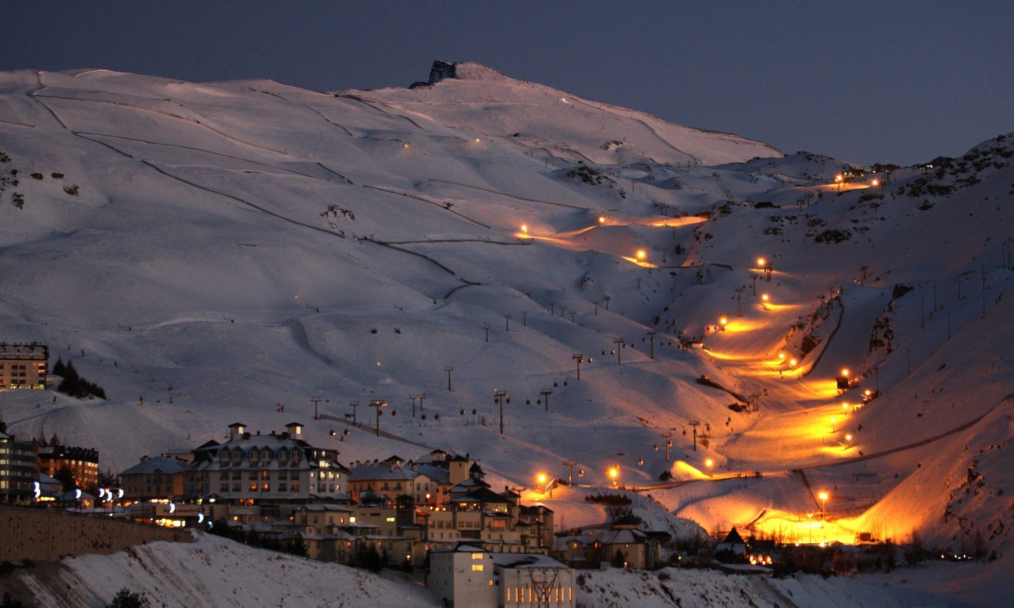Night Skiing at Sierra Nevada