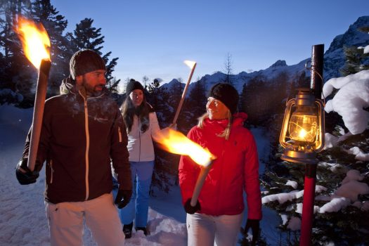 ENGADIN St. Moritz: Walking with torches swiss-image.ch/Christof-Sonderegger