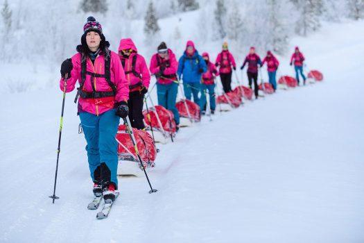 Ice Maidens crossing Antarctica - Major Nicola Weatherill. Photo-UK Army Antarctic Ice Maiden
