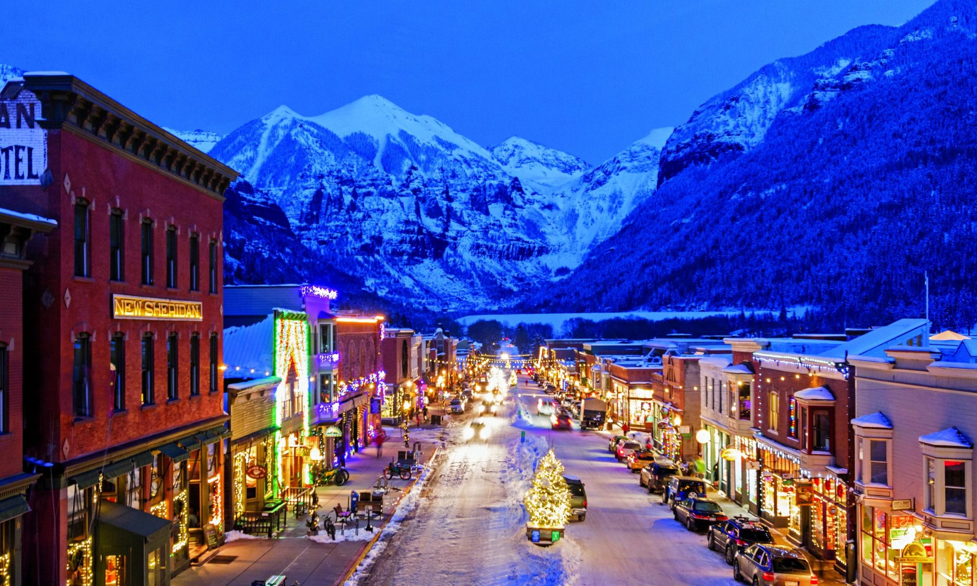 Main street downtown Telluride - Photo credits: Telluride Ski Resort.