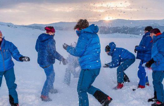 Having a bit of fun in their crossing of the Antarctic - Ice Maiden Antarctic trip