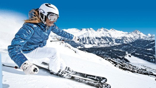 A skier comes down the slopes at St Moritz - Photo courtesy Switzerland Tourism