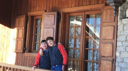 Finally at our home for one week in Charvensod- Photo by The-Ski-Guru.
