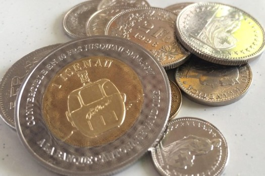 The Isenau coin is used locally in Les Diablerets. The idea is to Act Locally and Think Local too.