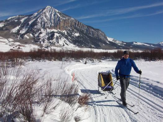The butte of Crested Butte from the cross country trails.
