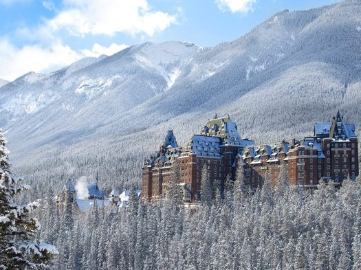 Fairmont Banff Springs in Banff, a great place to stay if skiing on the Big3. Photo by Fairmont Hotels.