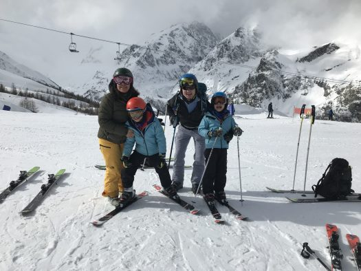 Family shot at the top of the Checrouit gondola. Photo by The-Ski-Guru. Last part of our family half term trip – Picture-perfect Courmayeur Mont Blanc.