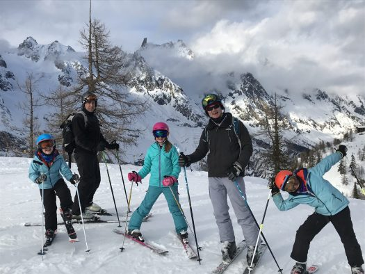 Getting ready for one of our afternoon laps with the Dent de Geant in the backdrop - Photo by The-Ski-Guru. Last part of our family half term trip – Picture-perfect Courmayeur Mont Blanc.