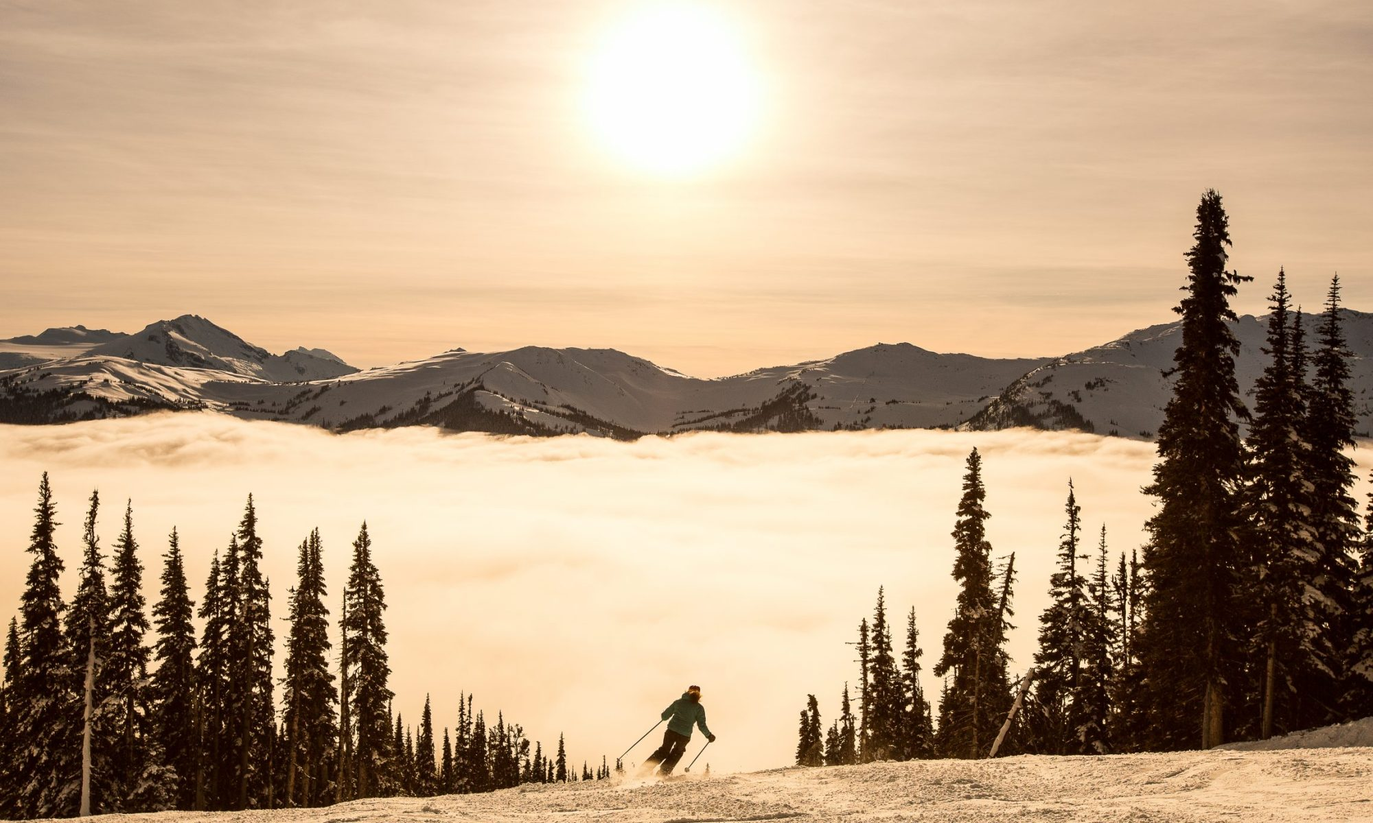 Whistler sunset- Photo by Paul Morrison - Vail Resorts.