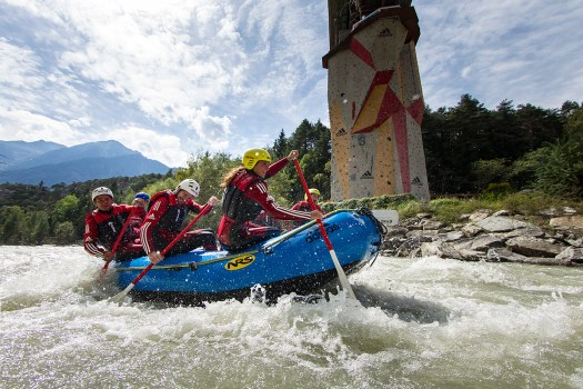 Rafting on Oetztaler Ache, Area 47, photo by Jens Klatt. AREA47 in Tirol
