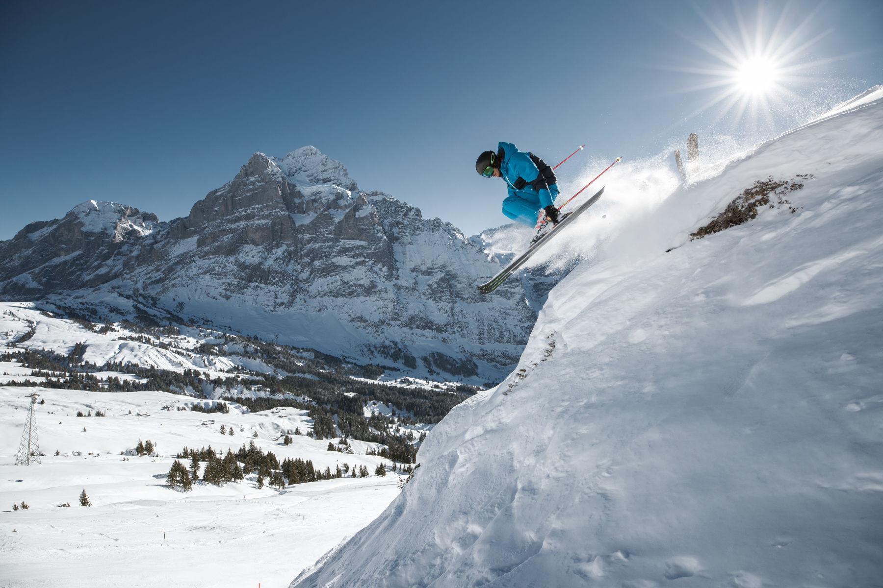 Over 1 Million Skier Visits for the Jungfrau Ski Region Grindelwald. First Winterski - Wetterhorn. - Photo by Jungrau Ski Region.