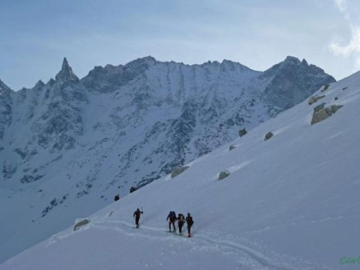 Cabane des Vignettes - Pigne d'Arolla - Cabane des Vignettes - Pigne d'Arolla - Switzerland. What does Climate Change will mean to a Mountain Nation such as Switzerland by 2060.