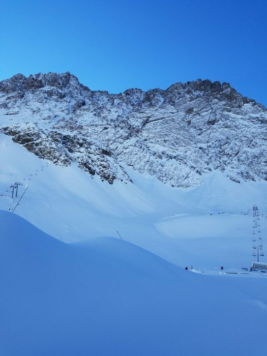 Photo from June 12th, after last snow storm. All the terrain is ready to receive you. Ski Portillo.