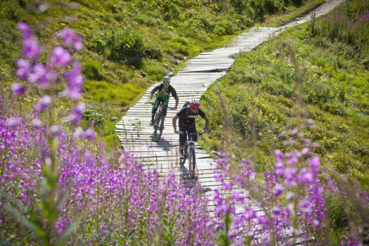 Verbier is one of the well known destinations for biking, with 7 trails of different difficulty. Photo by Céline Ribordy - Verbier Promotion.