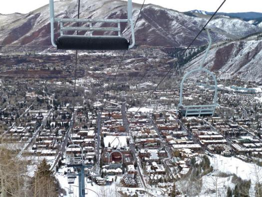 The town of Aspen from the Lift 1A - Credit: Aspen Journalism.