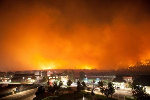 Colorado Fire - Overnight photo - Jack Eider. Lake Christine Fire.