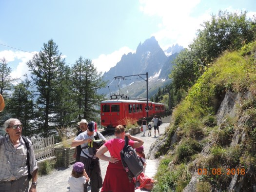The train takes you from the station in Chamonix up to Montenvers, where the Mer de Glace awaits. Photo: The Ski Guru