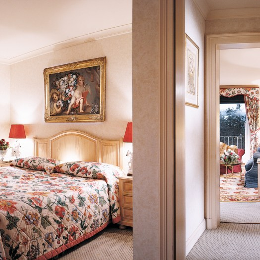 A suite in the Grand Hotel du Golf et Palace. Photo courtesy: Grand Hotel du Golf et Palace.
