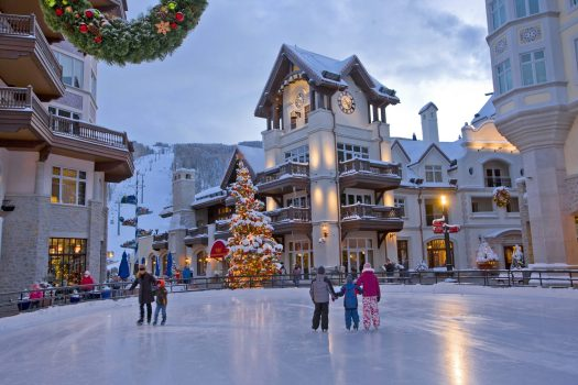 Vail Twilight - Arrabelle at Vail Square. Photo Jack Affleck. Vail Snow Days.