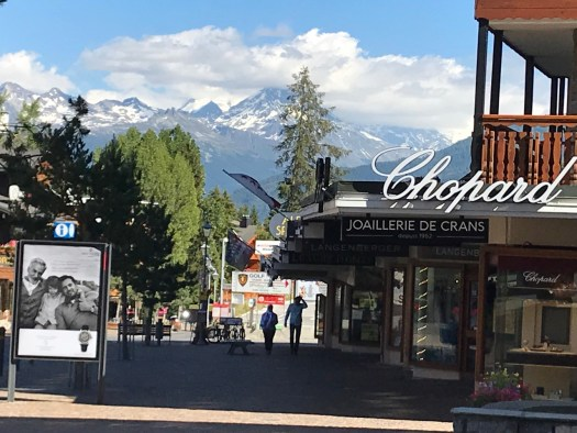 Downtown Crans in the summertime. Photo credit: The-Ski-Guru.