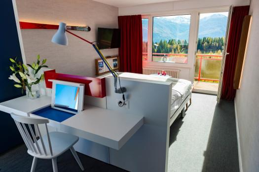 The newly refurbished rooms at the Elite Hotel in Crans-Montana.