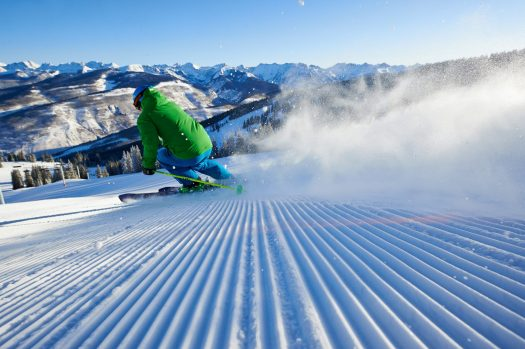 A groom run in Vail Mountain. Photo- Jack Affleck. Vail Resorts. Vail Snow Days.