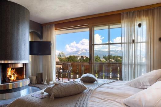 Suite at Hostellerie du Pas de L'Ours.