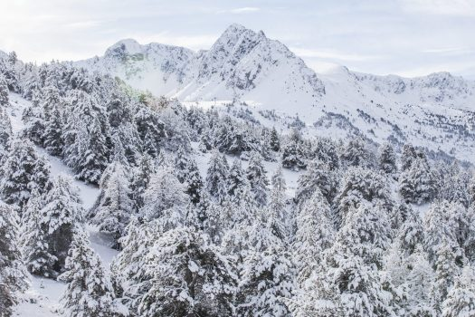 Grandvalira after a snowstorm. The continuity of Grandvalira guaranteed for the long term with the addition of Ordino Arcalís to their skiing experience. - Photo: Grandvalira.