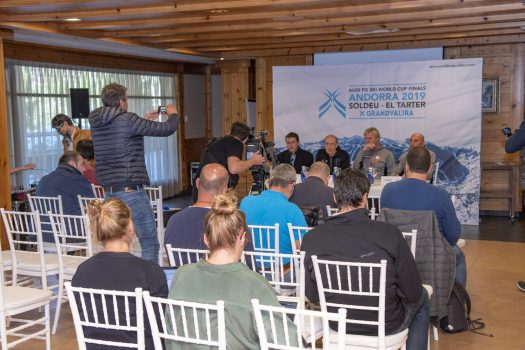 Press conference FIS Nordic Hotel. 3rd October. The FIS commends preparations for the Soldeu El Tartar World Cup Finals.