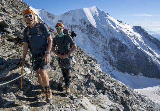 Sir Richard Branson climbs Mont Blanc in the Alps in the final stage of the Virgin Strive Challenge (Picture: PA) Nepal Herald.