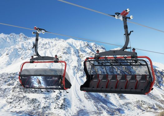 Sextuple chairlift Gampenbahn (Ischgl). Copyright: Silvrettaseilbahn AG. News from the Tirol's ski resorts 2018/19.