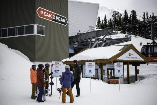 Adults enjoy a mountain host in Whistler Blackcomb, CAN.Vail Resorts Reports Certain Ski Season Metrics for the Season-to-Date Period Ended April 21, 2019.