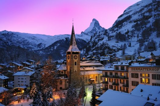 Zermatt Village - Photo copyright: Leander Wenger - Zermatt Tourist Board. Zermatt is a high-altitude resort that will not suffer much in the future with less snow thanks to its altitude. What does Climate Change will mean to a Mountain Nation such as Switzerland by 2060.