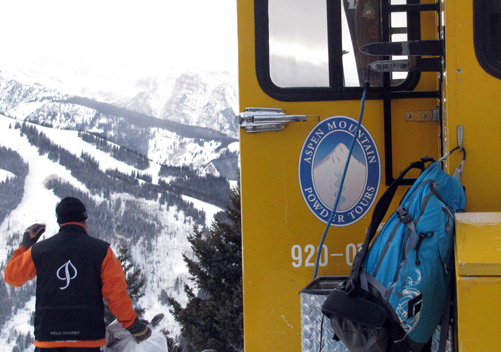 Skier caught in an avalanche in permit area of Aspen Mountain Powder Tours avoids serious injuries.