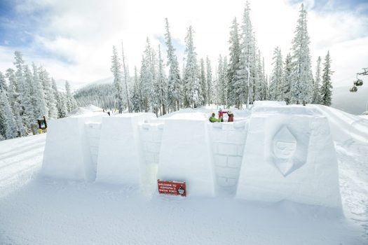 The Ice Castle on top of Keystone Mountain. Vail Resorts. Photo: Daniel MIlchev. Vail Resorts Commits to $175 Million to $180 Million in Capital Investments to Reimagine the Guest Experience for the 2019-20 Season.